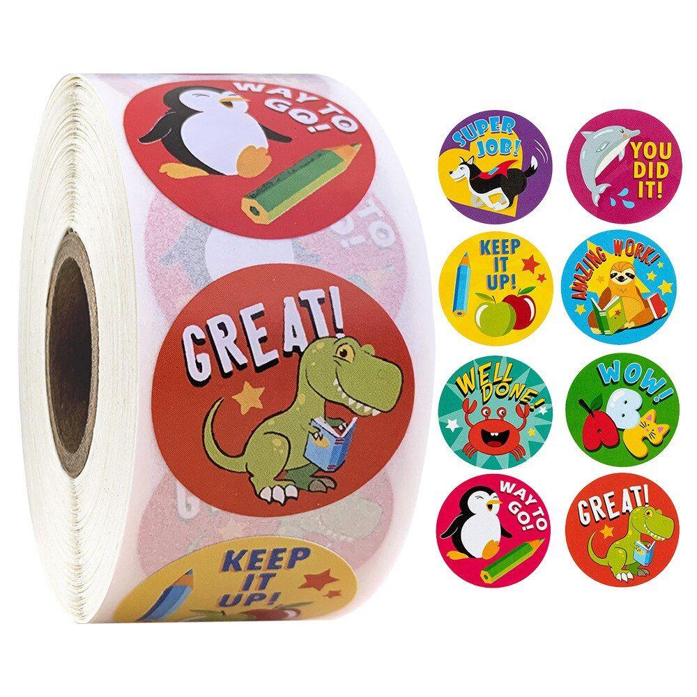 500 Sztuk Naklejki Motywacyjne Zacheta Rolka Naklejek Dla Dzieci Motywacyjne Naklejki Z Slodkie Zwierzaki Dla Nauc Kids Rewards Reward Stickers Animal Stickers