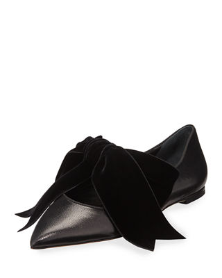 76185b76f Clara Ballet Flats with Large Velvet Bow | Products | Ballet flats ...