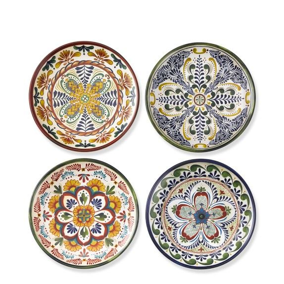 Veracruz Outdoor Melamine Salad Plates Set Of 4 Multi Salad