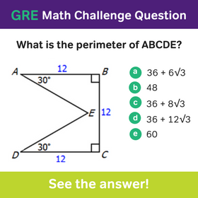 Magoosh GRE Math Challenge Question | Grad life! | Gre math