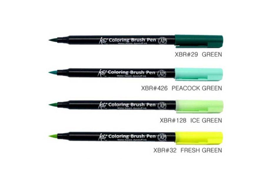 Details About Sakura Koi Coloring Brush Pens 48 Colors Choose