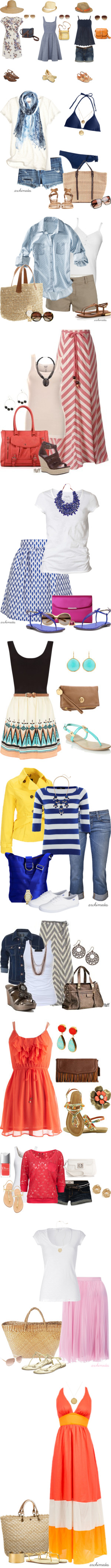 Summertime Cuteness by nikkiebear on Polyvore featuring Oasis, A2 by Aerosoles, Hat Attack, Ray-Ban, MARC BY MARC JACOBS, FOSSIL, MANGO, TOMS, Aerosoles and Dorothy Perkins