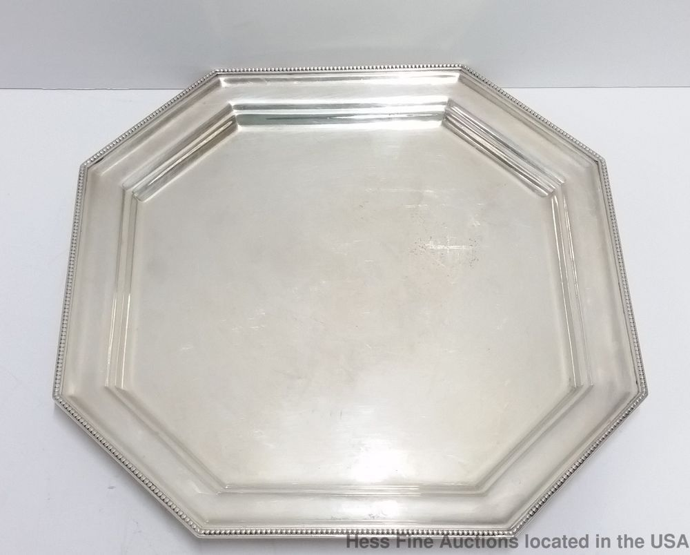 Heavy Gorham 1051 Sterling Silver Gadrooned Serving Tray