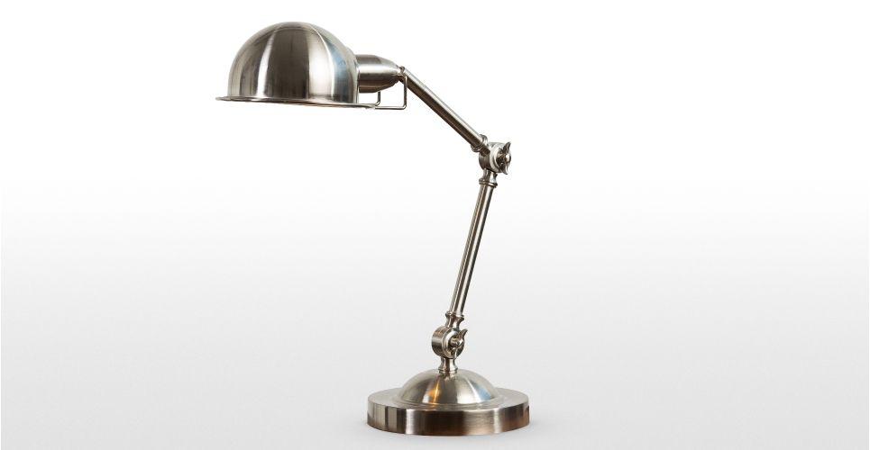 Jenkins Table Lamp Satin Nickel Made