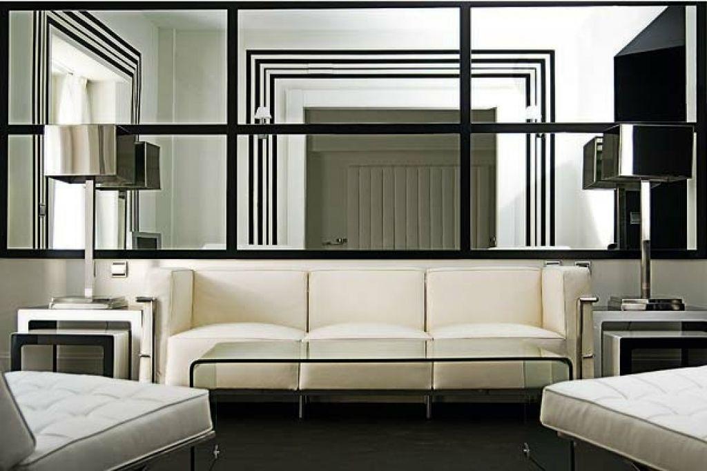 deko wandspiegel wohnzimmer modernes wohnzimmer spiegel optische