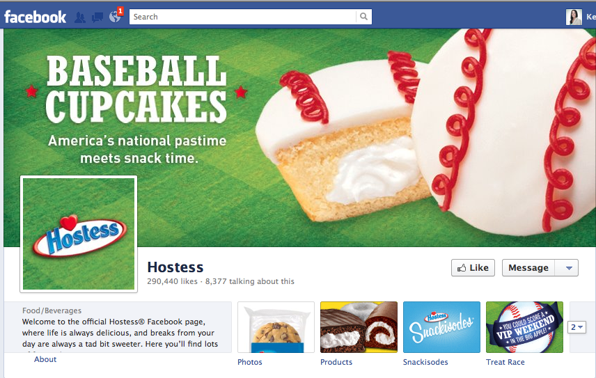 Great example of best use of Facebook timeline cover image for business.