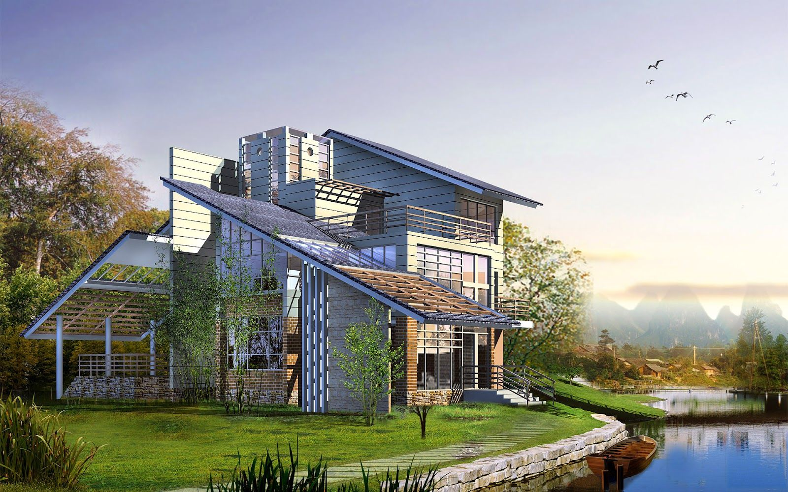 modern house wallpaper design - http://69hdwallpapers.com/modern-house
