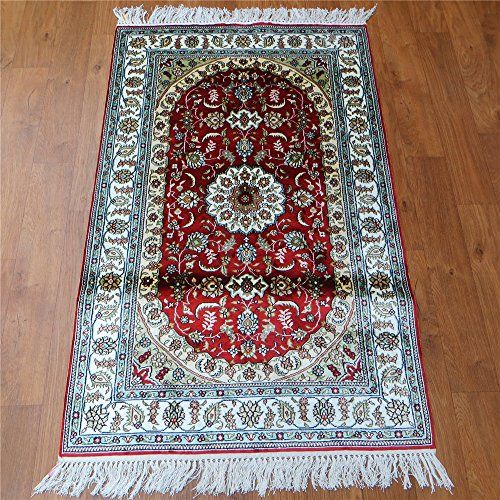 Camel Carpet Handmade Silk Red Small Size Indoor Fine Area Rugs 2 5 X4 Http