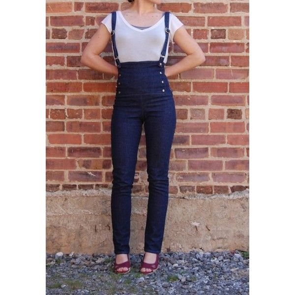 suspended at sea high waisted sailor pants with built in suspenders 167 liked on. Black Bedroom Furniture Sets. Home Design Ideas