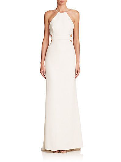 f5c60dbee70 Halston heritage halter gown with back cutouts