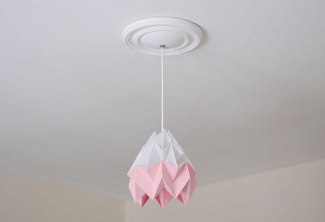 Studio Snowpuppe Lamp : Moth origami lampshade studio snowpuppe netherlands design