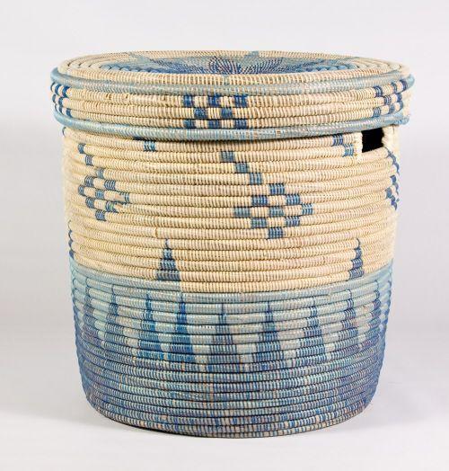 Mali Blue Laundry Basket Laundry Basket Basket Blue