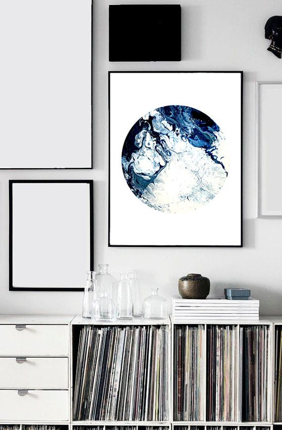 Waves I Print (Paint, Acrylic, Abstract, Fluid Painting, Wall Art ...