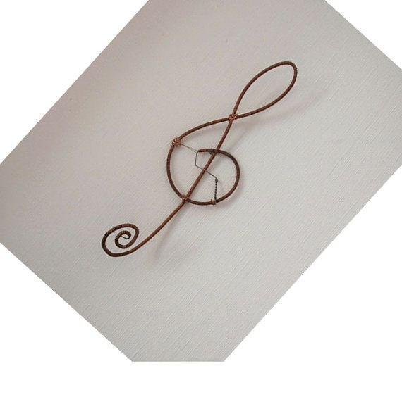 Antieke Piano String Home Decor decoratie: Treble Clef Ornament / decoratie - Upcycled gerecycleerd Piano String - aangepaste bestellen