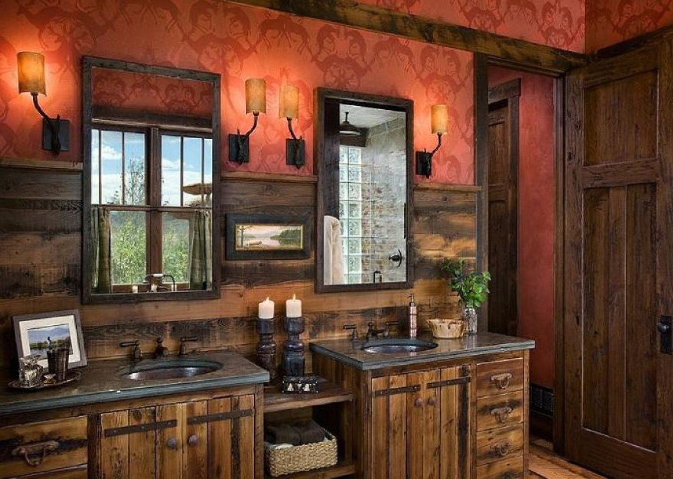 Western shower enclosures unique rustic bathrooms unique rustic