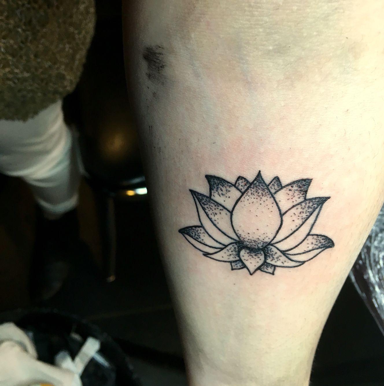 My small lotus flower tattoo dotwork tats pinterest small my small lotus flower tattoo dotwork izmirmasajfo