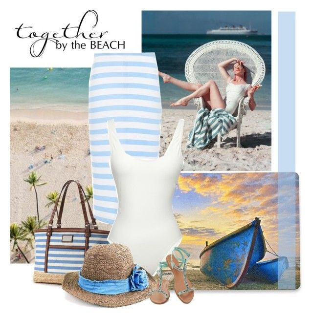"""beach time"" by bodangela ❤ liked on Polyvore"