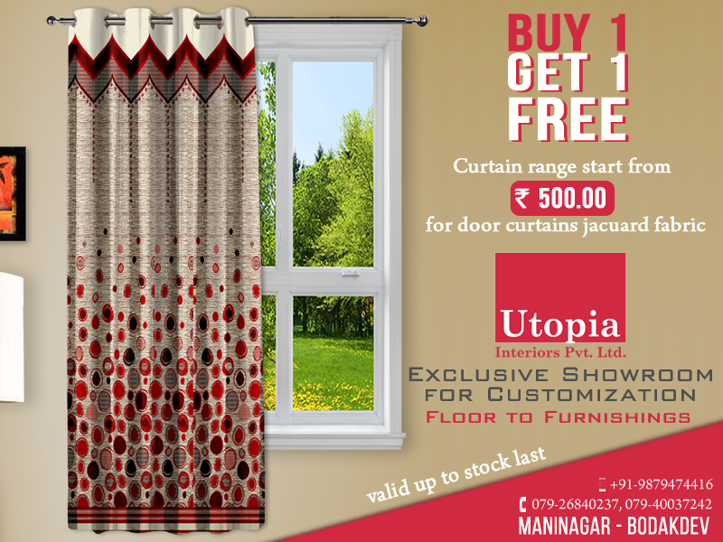 Buy 1 Get 1 Free Curtain Range Start From Rs 500 Curtain Rugs