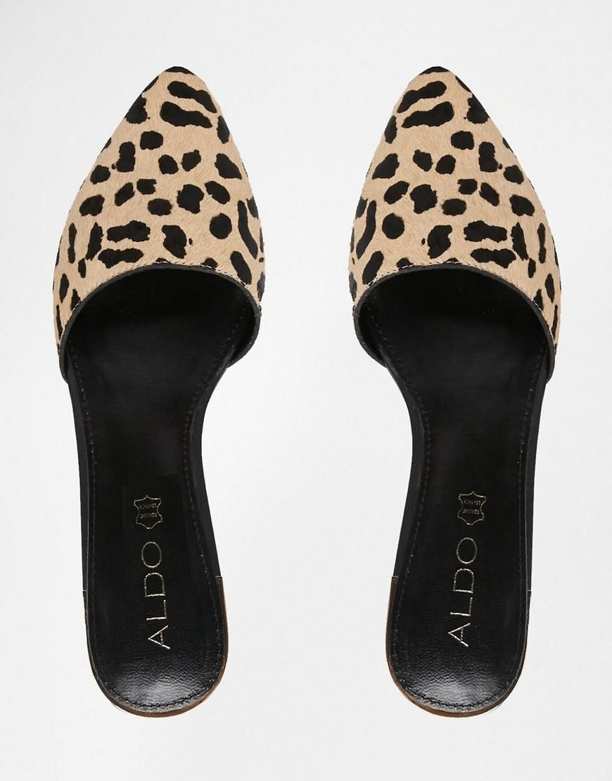 48d743106 ALDO | ALDO Luma Leopard Pointed Flat Mule Shoes at ASOS | Fashion ...