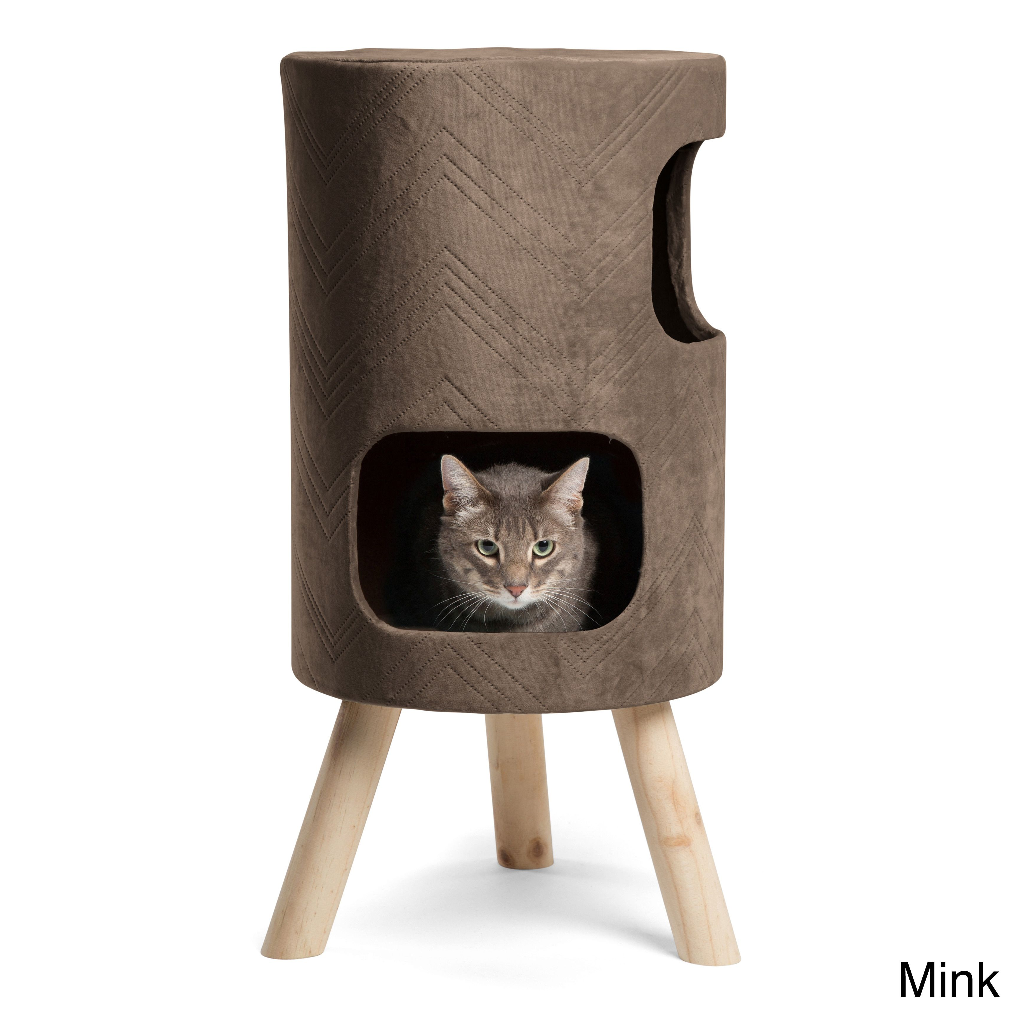 Best Friends By Sheri Modern Kitty Handcrafted Satellite Cat Tower