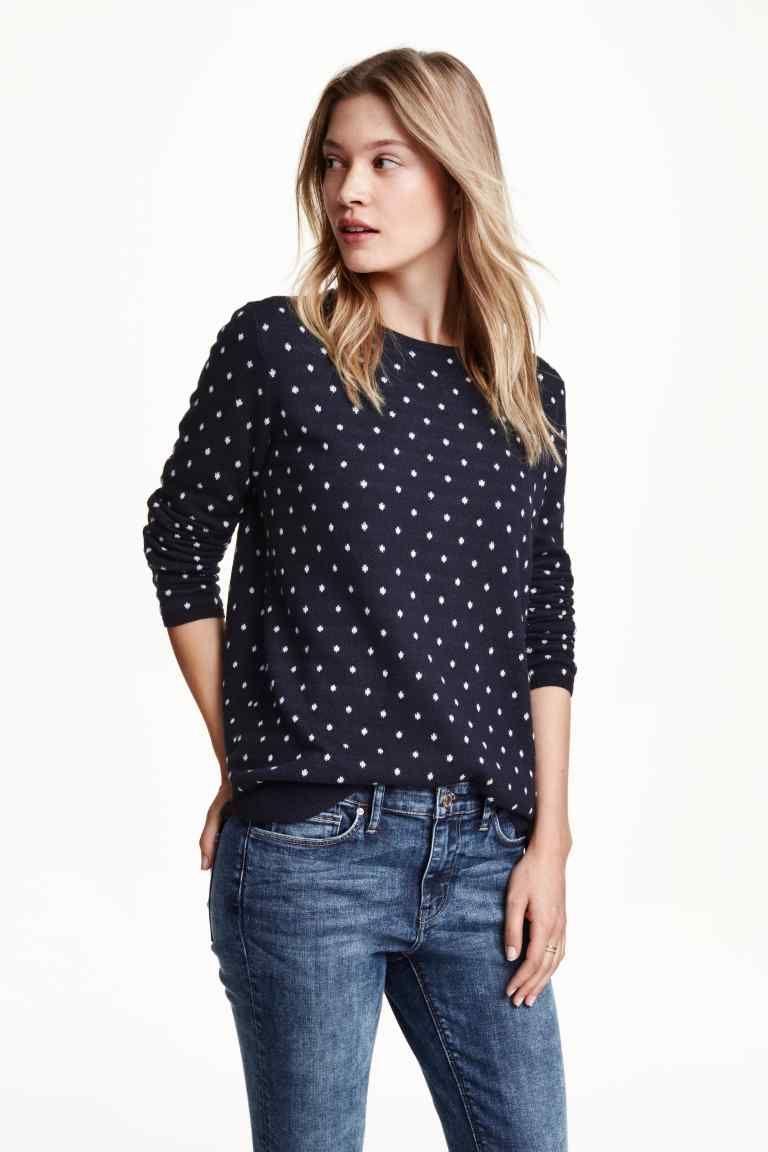 nuovi stili 839dc 55649 Pullover in maglia fine | H&M | Style | Maglioni e Pois