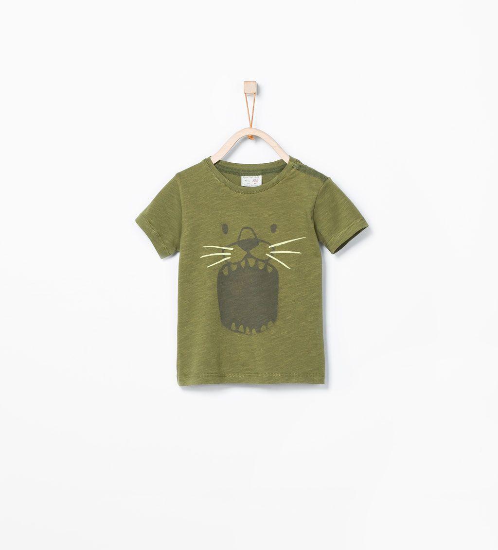 8b821397 Lion print T-shirt-T-shirts-Baby boy (3 months - 3 years)-KIDS   ZARA  United States