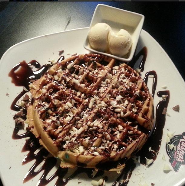 Amazing Waffle From Kaspas Desserts Good Food Dessert