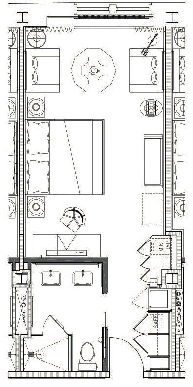 The Surrey Ny Grand Deluxe Salon King Hotel Room Design Plan Hotel Room Design Hotel Floor Plan