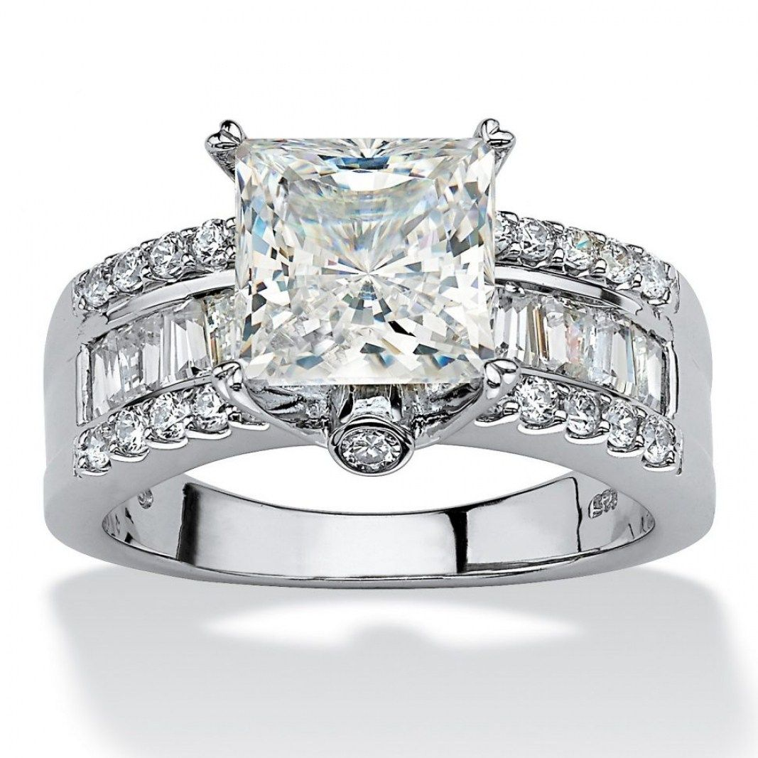 Wedding Rings Cubic Zirconia That Look Real Thin Throughout Fake Diamond