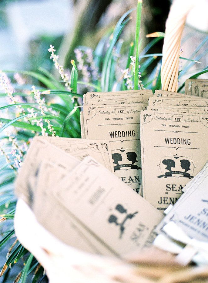 Wedding Programs - Rustic Wedding Decoration | Fab Mood
