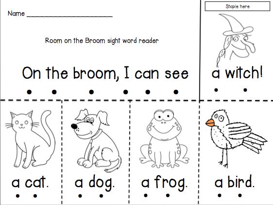 Room on the Broom Emergent Reader | Hexen, Englisch und Kinder halloween