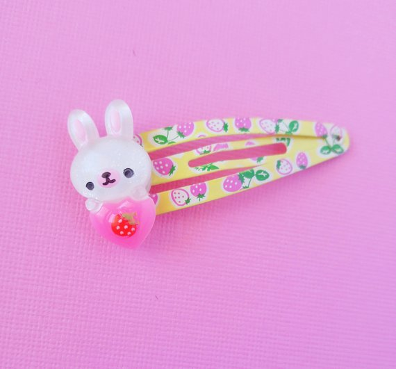 White And Yellow Bunny Hair Clip Cute Rabbit Hair Clips Easter Hair Clip Cute Spring Hair Clips Kaw Kawaii Hair Clips Great Gifts For Girlfriend Cute Spring