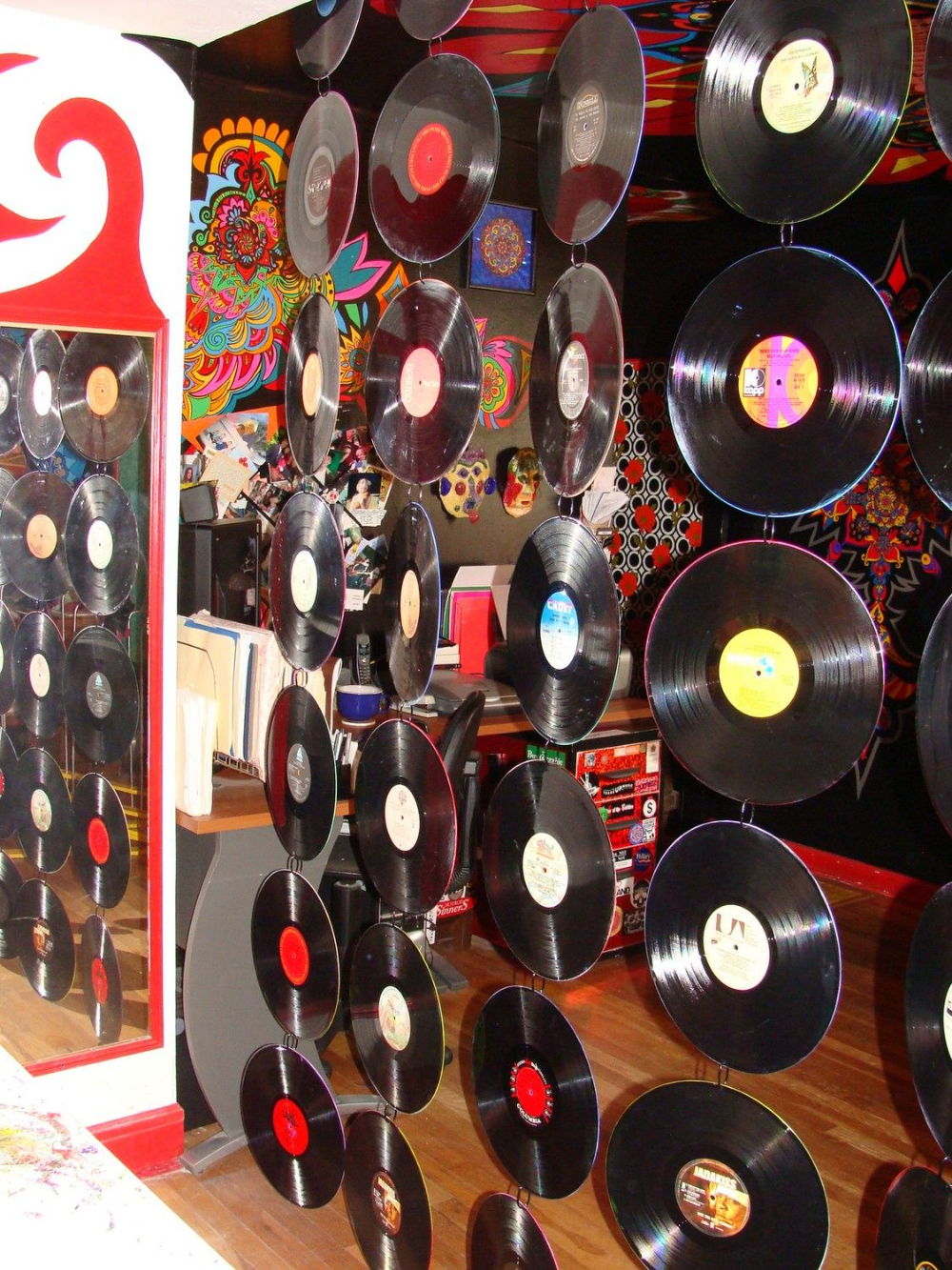 How To Hang Vinyl Records Fishing Wire Google Search Vinyl Record Art Vinyl Vinyl Records
