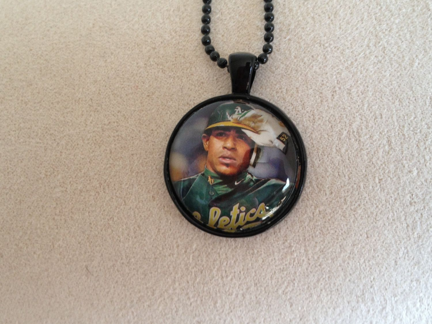Oakland A's Yoenis Cespedes Necklace by QUEENBEADER on Etsy, $16.25