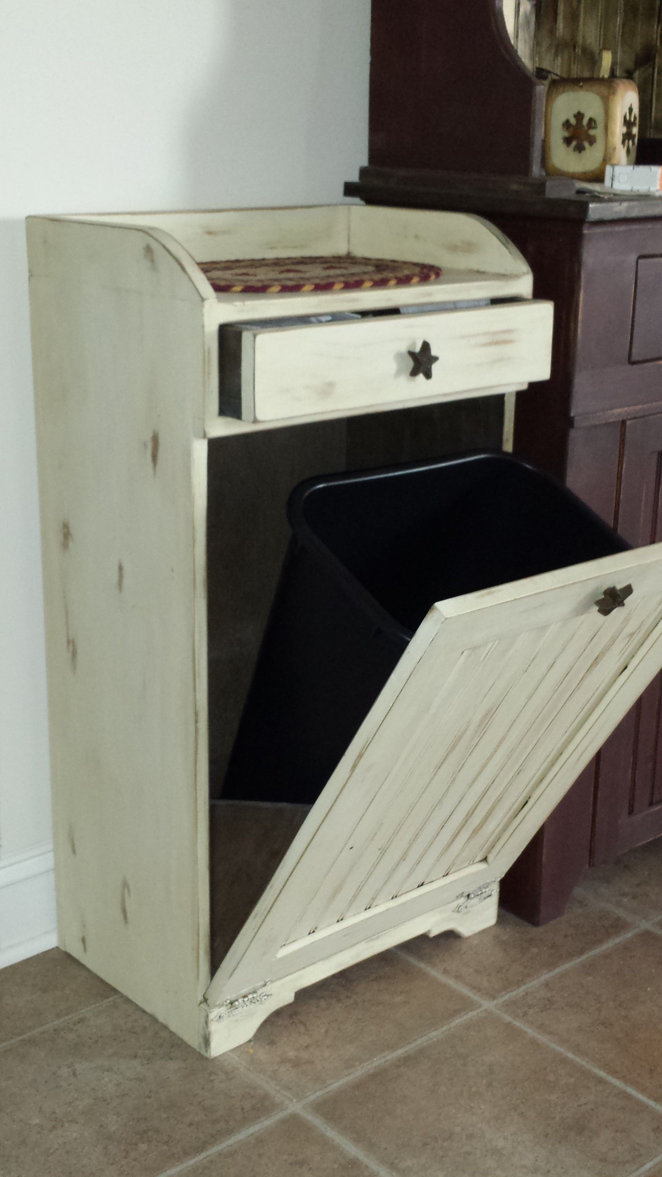 Country Trash Can   Diy furniture, Trash can cabinet ...