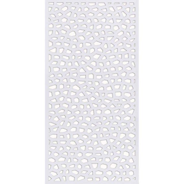 Panneau Treillis Pvc Ajoure Mosaic L 100 X H 200 Cm Blanc Leroy Merlin Panneau Treillis Panneau Pvc Treillis