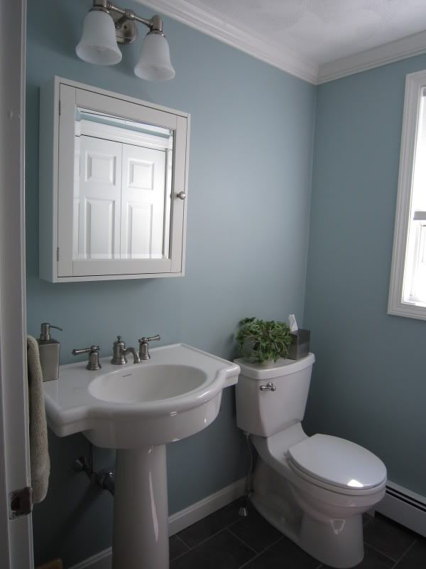 Bm Wedgewood Gray Small Bathroom Colors Small Half