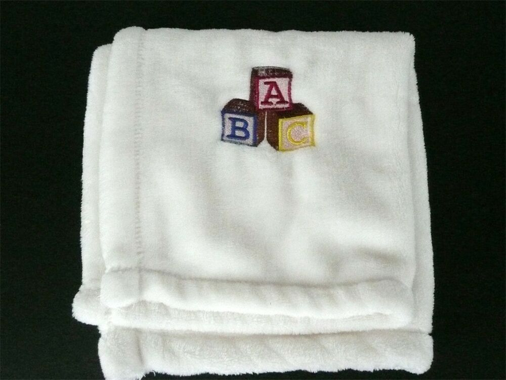 Terry Town Baby White Security Blanket Soft Lovey Micro-Fiber ABC Blocks #TerryTownBaby #securityblankets