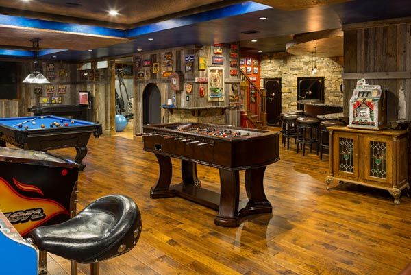 60 Basements Transformed Into Spaces You May Never Want To Leave Game Room Basement Man Cave Basement Man Cave Design