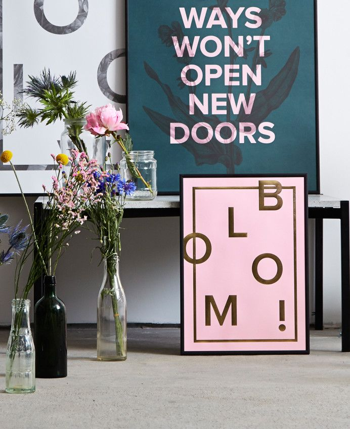 Bloom! Art Print in Candy Pink by I Love My Type