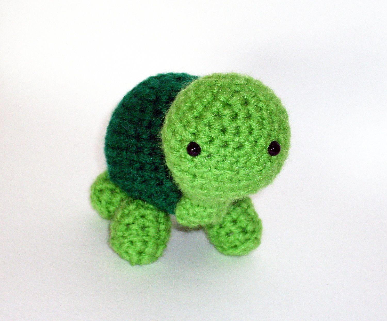 Turtle Stuffed Animal Crochet Amigurumi Green by HookAndStitches ...