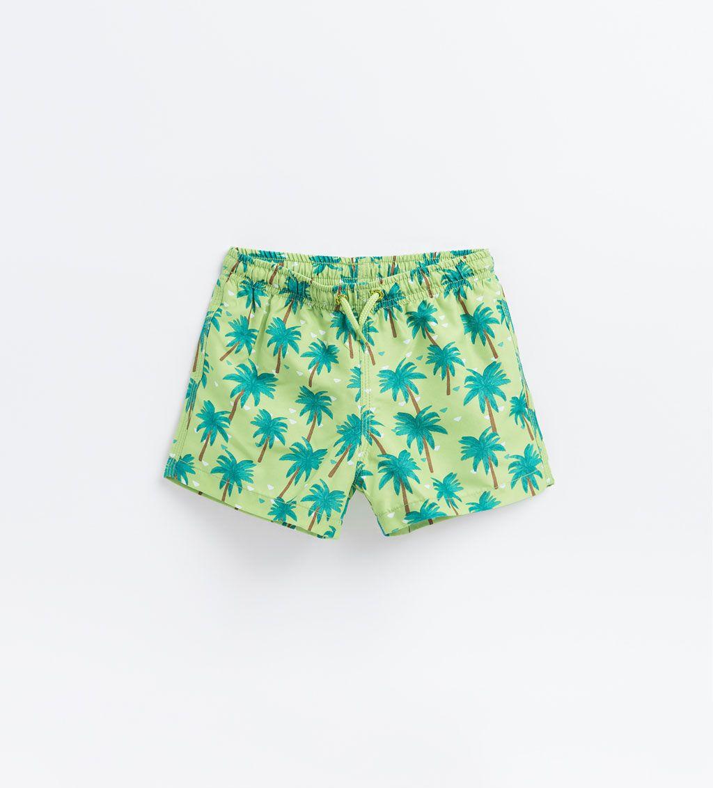 Zara Shorts Palm Tree Swimwear Years Bermuda Swim Boy4 Kids 14 Ny8n0Ovmw