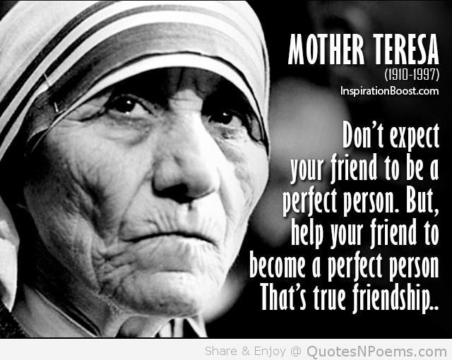 Mother Teresa Famous Friendship Quotes Blessed Mother Teresa