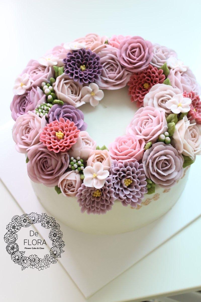 입속의 꽃 디플로라 버터크림 플라워케이크 Creamy pink rose flower cake 디플로라의 여리여리한 크리미...
