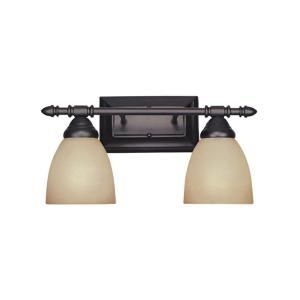 Photo of Designer fountain Apollo Collection 2-light oil rubbed bronze wall bracket Vanity Light 94002-ORB – The Home Depot