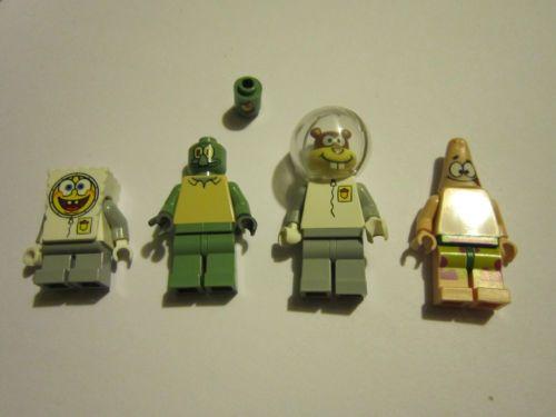 Lego Spongebob Patrick Sandy Squidward And Plankton 3827 3825