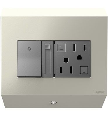 Adorne control box with paddle dimmer and 15a gfci by legrand caroline legrand