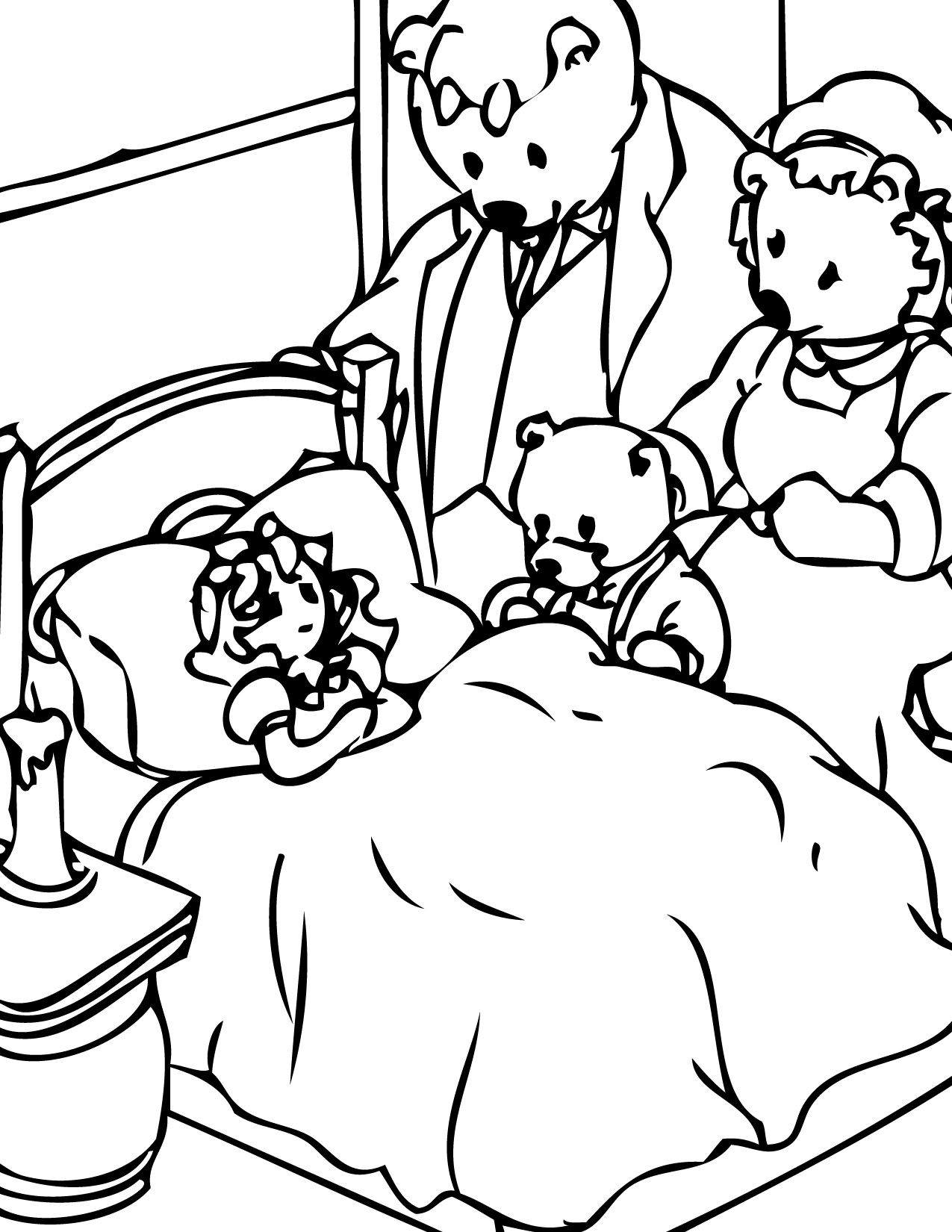 goldilocks and the three bears coloring pages Goldilocks and the Three Bears Coloring Page   Handipoints | Tools  goldilocks and the three bears coloring pages