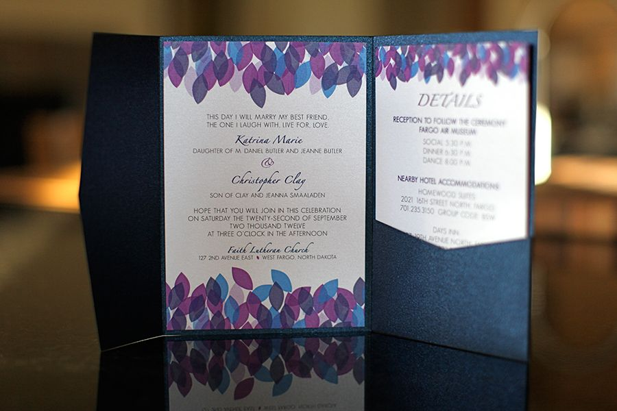 17 Best images about Wedding Ideas – Purple Fall Wedding Invitations