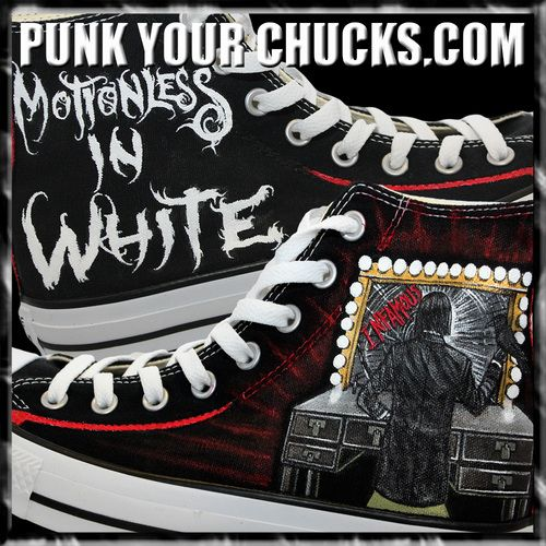 10e3771fd40 Motionless in White Custom Converse Sneakers